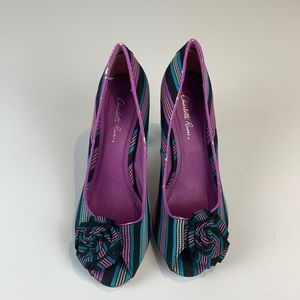 Charlotte Russe Sweet 67 Multicolour Heel with Bow